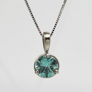 Simple Blue Zircon Pendant - Morgan's Treasure - Custom Jewelry