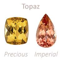 topaz gemstone, yellow precious, peach imperial, november birthstone