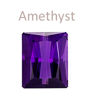 Amethyst gemstone purple february birthstone