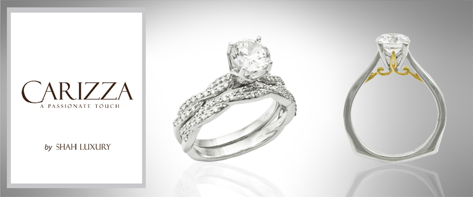 Carizza by Shah Luxe Designer line of engagement rings available in Westerville, OH