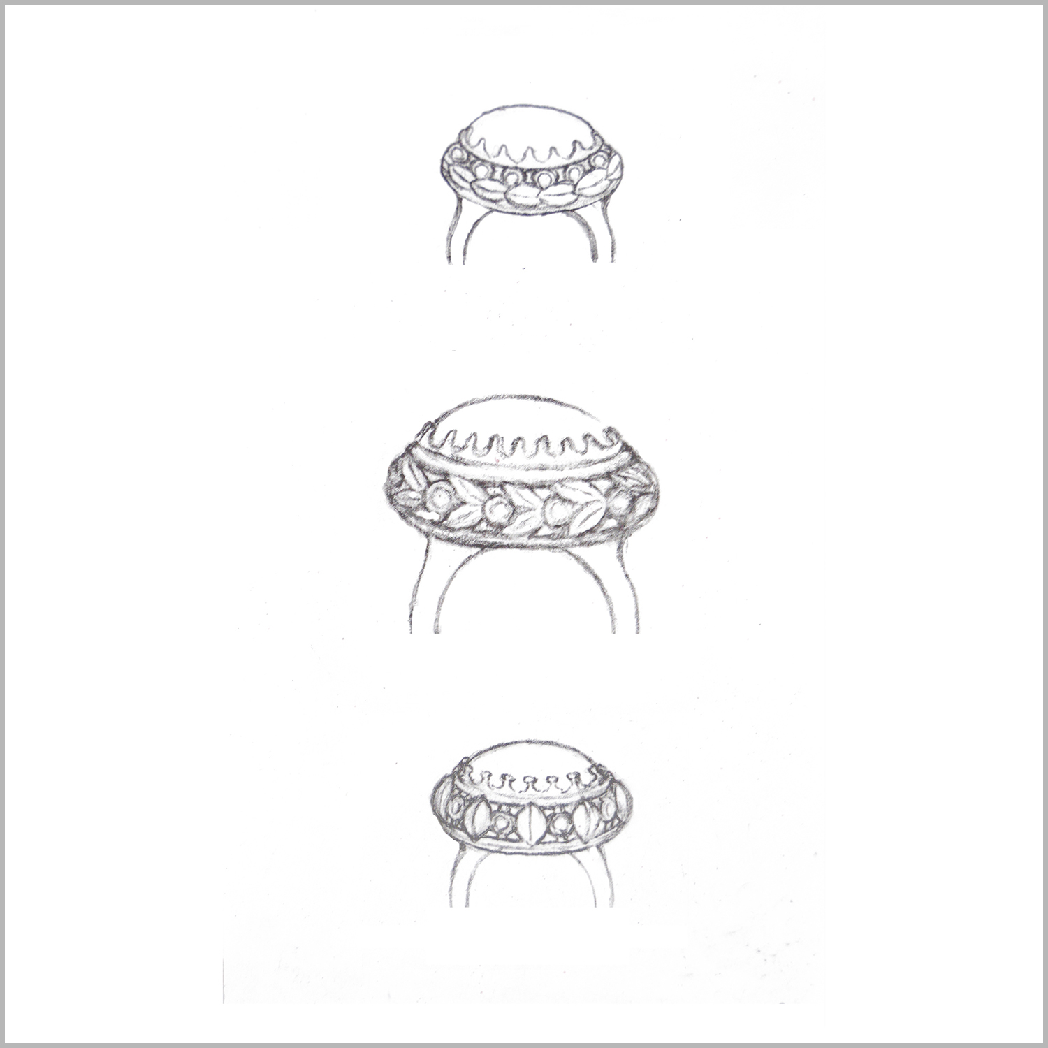 4_Sketches for Crown Ring_Border