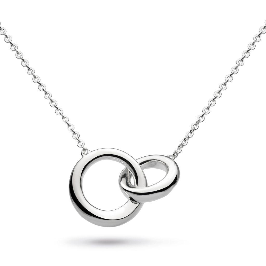 kit heath interlocking circles sterling silver necklace
