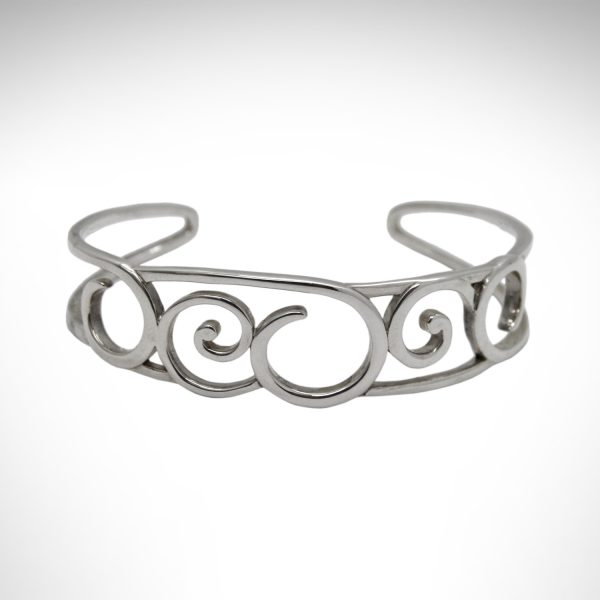 sterling silver bracelet with scroll design by kit heath
