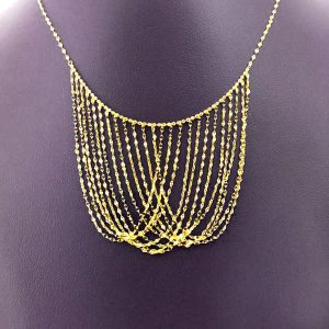 14ky gold multistrand chain necklace