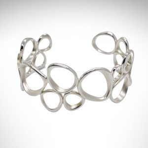 kit heath cuff bracelet sterling silver modern style satin finish