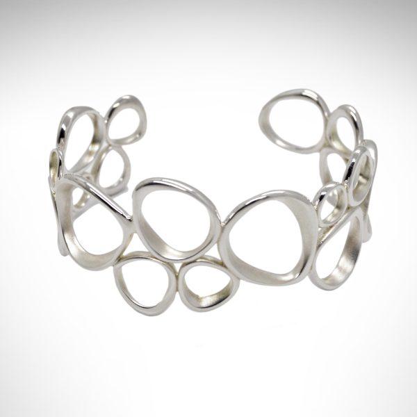 kit heath cuff bracelet sterling silver modern style satin finish
