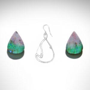 Sketch for Boulder Opal Earrings