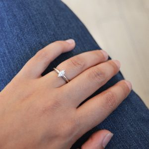 white gold engagement ring with marquise, solitaire engagement ring with prongs